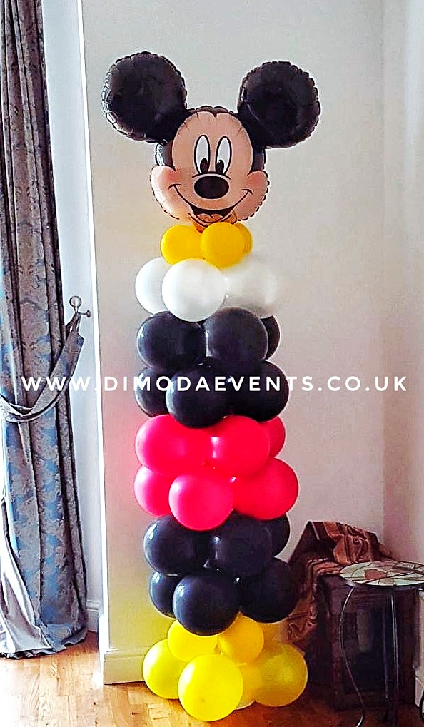 Mickey/Minnie Mouse balloon column