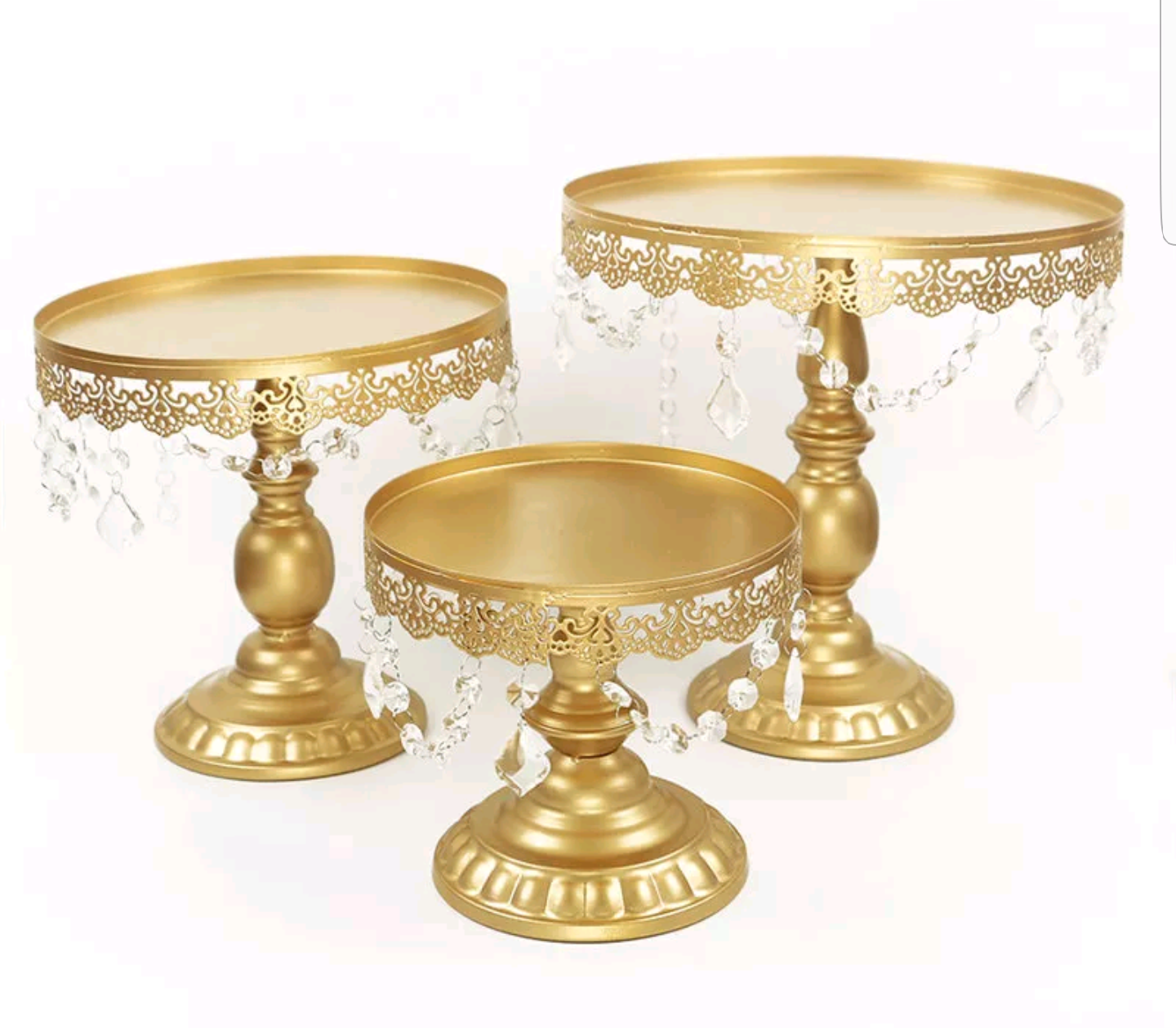 Gold Cake Stands with Crystals
