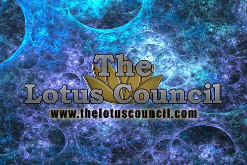 The Lotus Council Playmat - Fractal Background
