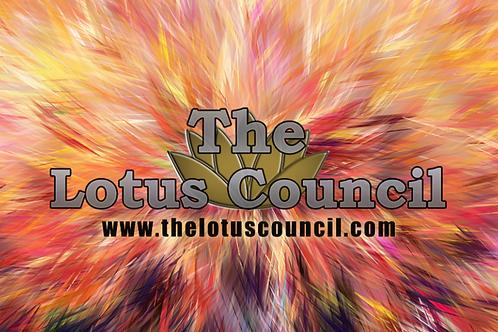 The Lotus Council Playmat - Burst Background