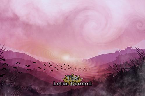 The Lotus Council Playmat - Purple Forest 2