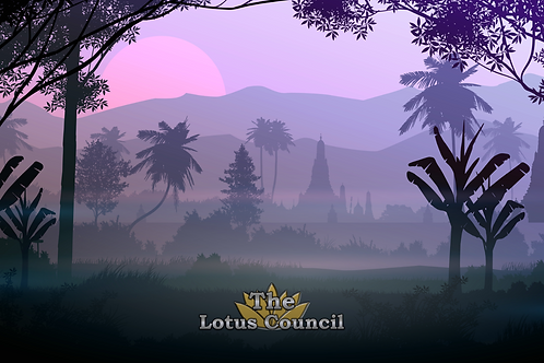 The Lotus Council Playmat - Forest 2