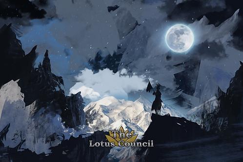The Lotus Council Playmat - Moonlit Painting 2