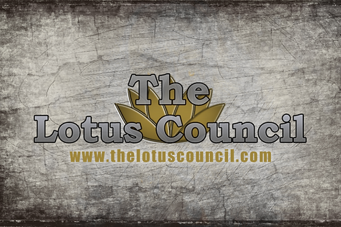 The Lotus Council Playmat - Distressed Background