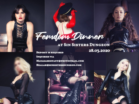 Femdom Dinner at Sin Sisters Dungeon!