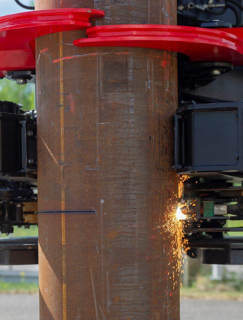 Cortador de tubos Hincados