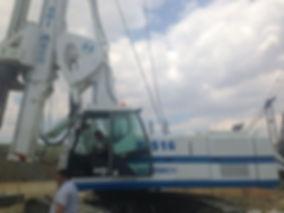piloteadora soilmec r 516, piloteador spilmec r 516, torre de pilotaje
