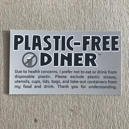 Plastic-Free Diner™ Cards Health: Deck of 50
