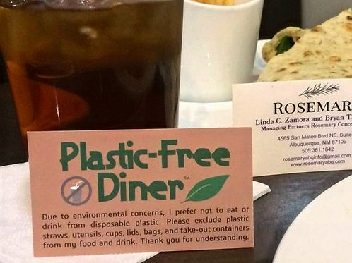 Plastic-Free Diner™ Cards Green: Deck of 50