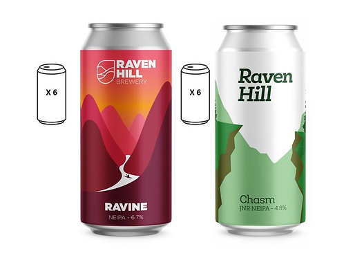 Chasm & Ravine 12 can Mix Box (6 of each)