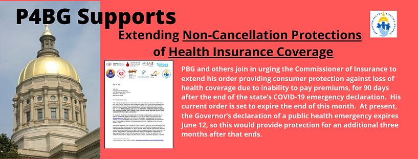 Advocacy Alert Insurance Non-Cancellatio