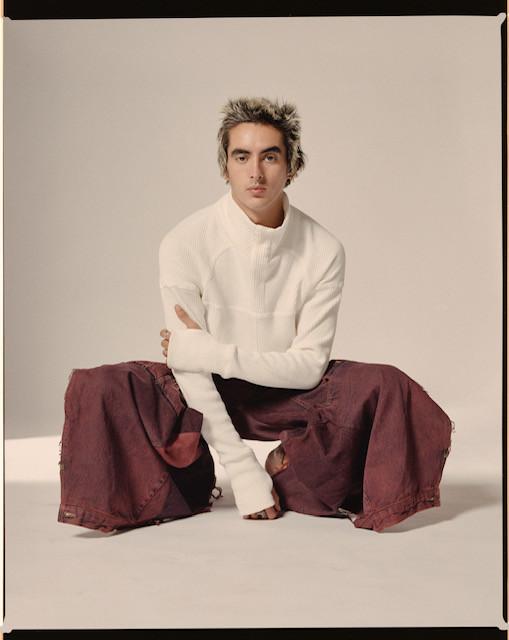 Jumper: A.A. Spectrum Trousers: Charlie Cohen