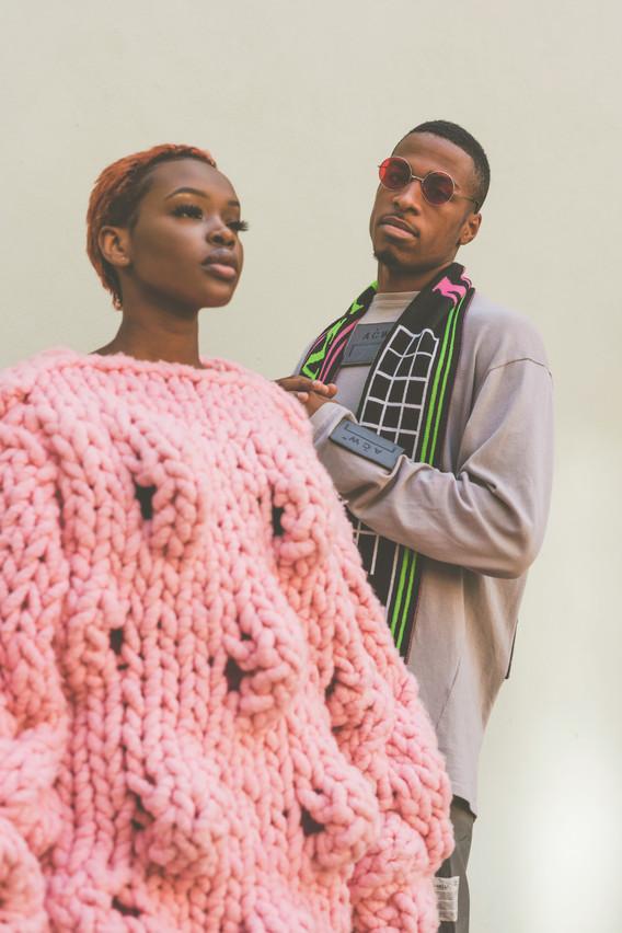 Stylists, Joy Craig (Female) Derrick Odafi (Male) Wearing: Kim Tiziana Rottmuller (Female) A Cold Wall, MAINS (male)