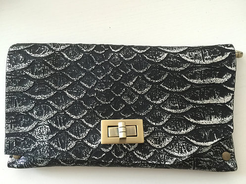 CLUTCH 8 - Black Snake Stamp Silver (A)