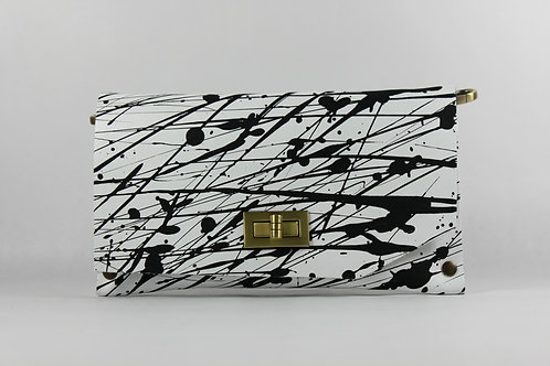 CLUTCH 8 - White - Black Splash (B)