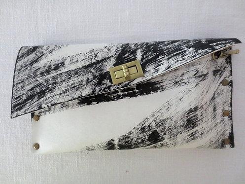 CLUTCH 1 - White Handpaint 2