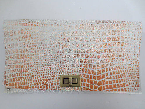 CLUTCH 2 - White Croc Stamp Copper