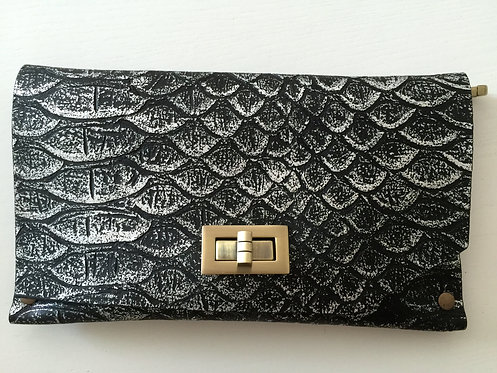 CLUTCH 8 - Black Snake Stamp Silver (B)