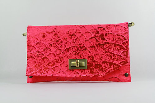 CLUTCH 8 - Pink Snake Stamp Met.Pink