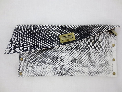 CLUTCH 1 - White Snake Stamp Black
