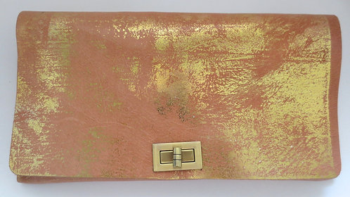 CLUTCH 2 - Nude Stamp Gold