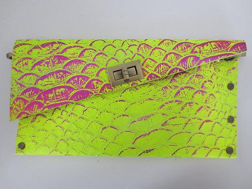 CLUTCH 1 - Neon Snake Stamp Metallic Pink