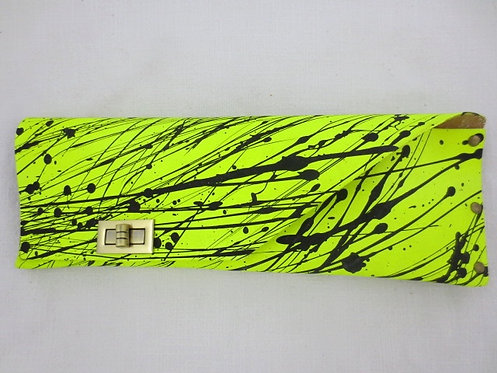 LONG CLUTCH - Neon Splash Black