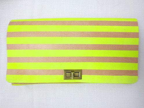 CLUTCH 2 - Nude Neon Stripes