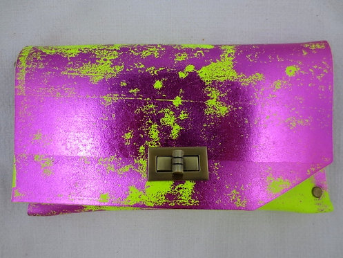 CLUTCH 8 - Neon Stamp Metallic Pink (A)