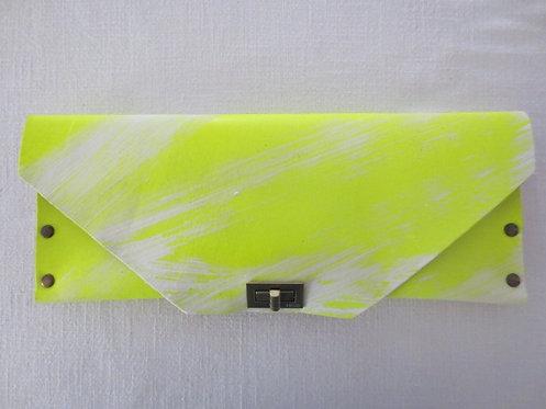 BIG CLUTCH - Neon Hand Paint White