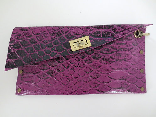 CLUTCH 1 - Purple Snake Stamp Black