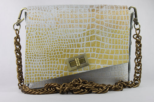 BOX 4 - White Croc Stamp Gold (A)
