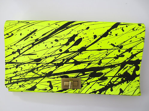CLUTCH 2 - Neon/Black Splash