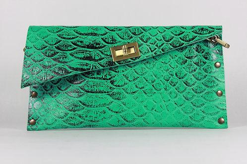 CLUTCH 1 - Green Snake Stamp Black