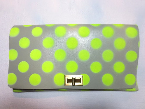 CLUTCH 2 - Grey Neon Polka Dots