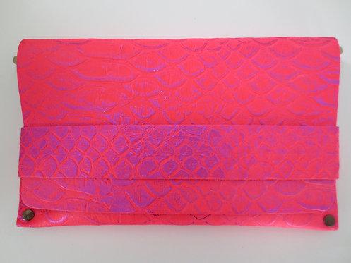 CLUTCH 5 - Pink Snake Stamp Metallic Pink