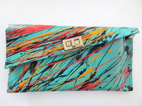 CLUTCH 1 - Turquoise/Mix Splash