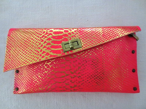 CLUTCH 1 - Pink Snake Stamp Gold