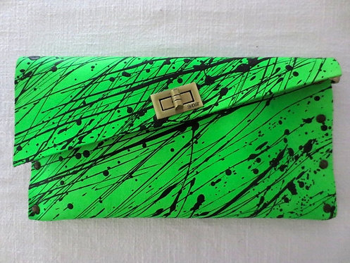 CLUTCH 1 -  Neon Green/Splash Black