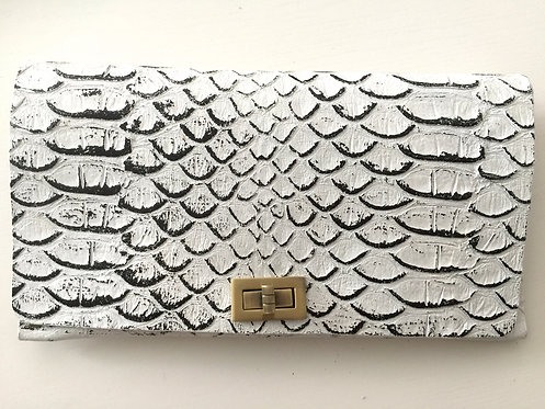 CLUTCH 2 - White Snake Stamp Black