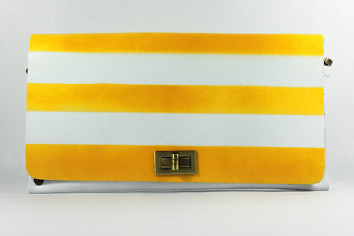 CLUTCH 2 - Yellow/White Horizontal Stripes