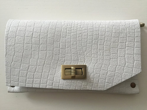 CLUTCH 8 - Pure White Croc