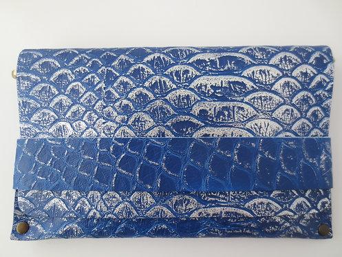 CLUTCH 5 - Blue Snake Stamp Silver