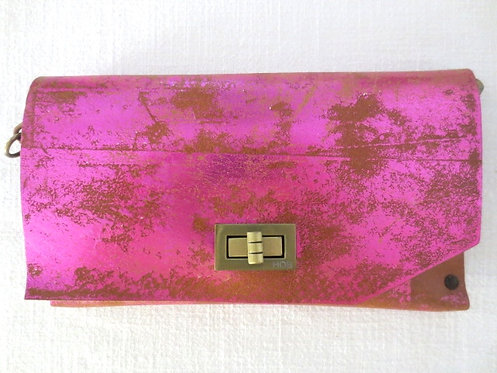 CLUTCH 8 - Nude Stamp Metallic Pink
