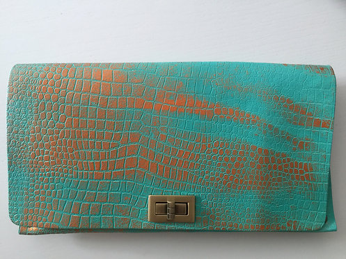 CLUTCH 2 - Tq Croc Stamp Copper