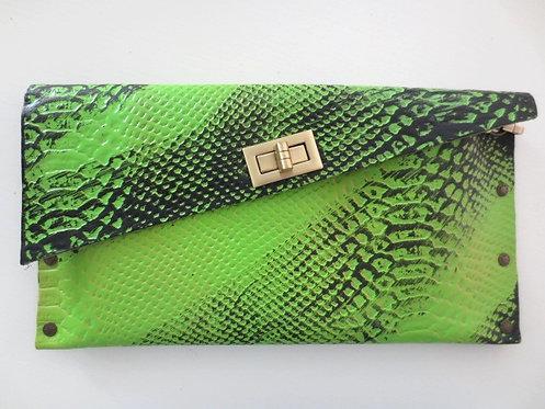 CLUTCH 1 - Light Green Snake Paint Black