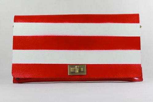 CLUTCH 2 - Red/White Horizontal Stripes