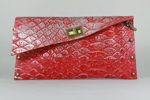 CLUTCH 1 - Red Snake Stamp Silver
