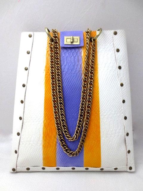 BIG BAG 1 - White Snake/Three central stripes