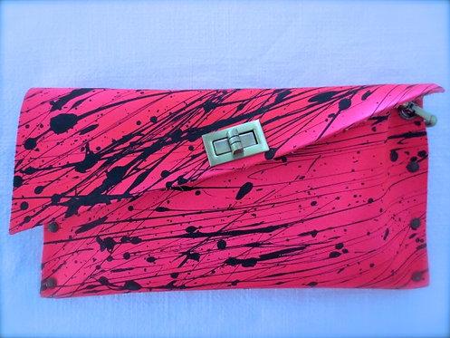 CLUTCH 1 - Neon Pink Black Splash B